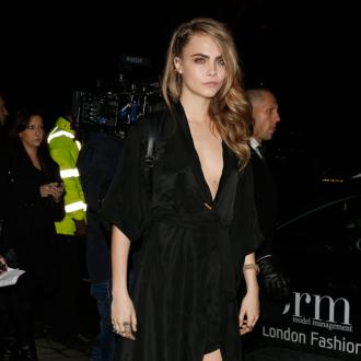Cara Delevingne  Sports Own Mulberry Design At Elle Style Awards