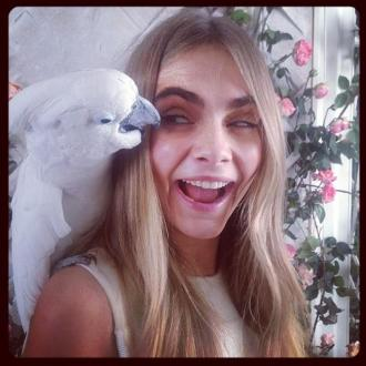 Cara Delevingne Teases Mulberry Tea Party Shoot
