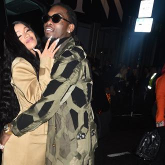 Cardi B spotted wearing engagement ring