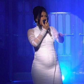 Cardi B Shows Off Baby Bump