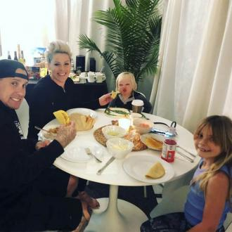 Pink has family meal time on tour 'at least twice a week'