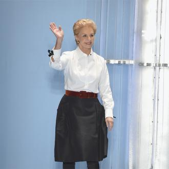 Carolina Herrera slams revealing gowns