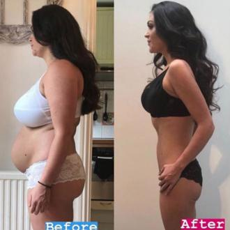 Casey Batchelor shows off dramatic four stone weight loss