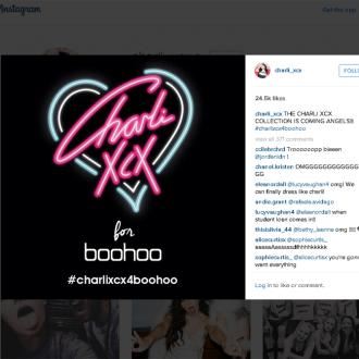 Charli XCX launching boohoo collection