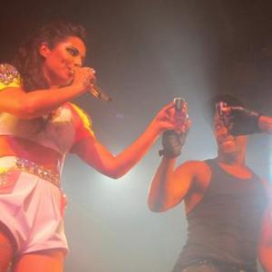 Cheryl Cole Downs Tequila Shot On Stage