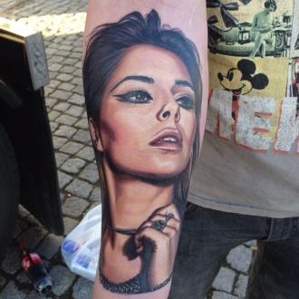 Cheryl Cole Impressed With Fan's Tattoo Of Her Face