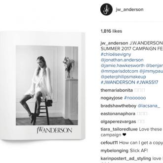 Chloe Sevigny stars in J W Anderson's campaign