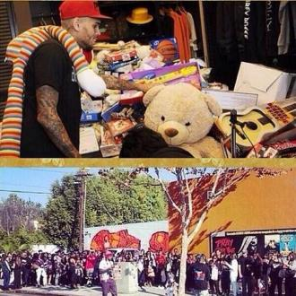 Chris Brown Thanks Fans For Toy Drive