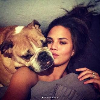 Chrissy Teigen's pooch Puddy dies