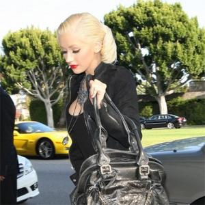 Christina Aguilera Focusing On Son