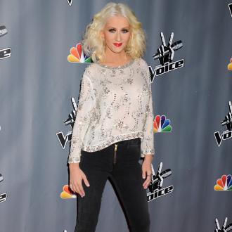 Christina Aguilera's Calm Baby