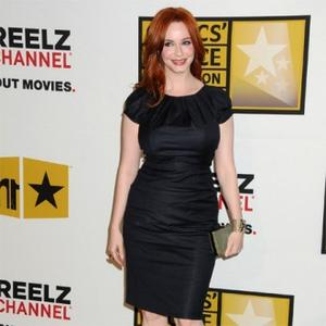 Christina Hendricks Enjoys Milking Cows