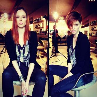 Coco Rocha changed style for short hair