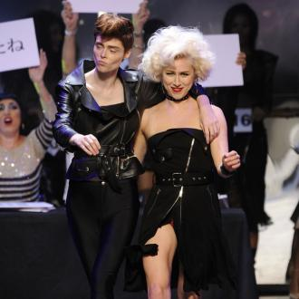 Coco Rocha and Karlie Kloss dance in Gaultier show