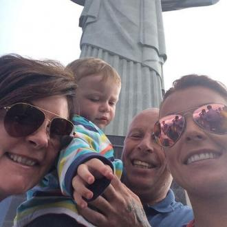 Coleen Rooney Goes Sight-seeing In Brazil