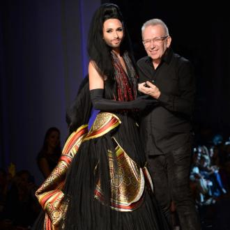 Conchita Wurst walks Jean Paul Gaultier catwalk