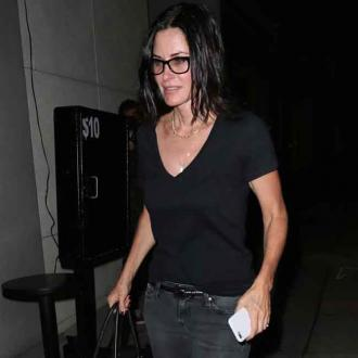 Courteney Cox scared by plane incident