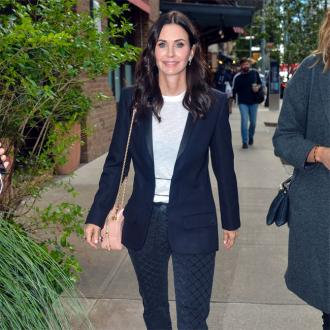 Courteney Cox is binge watching Friends