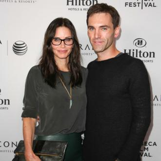 Johnny Mcdaid Supports Courteney Cox