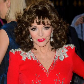 Dame Joan Collins Does Her Own Grocery Shop