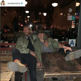 David Beckham treats Brooklyn to reunion pizza