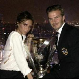 David Beckham Celebrates La Galaxy Win With Family