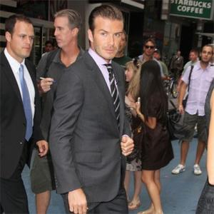 Hairdresser David Beckham