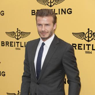 David Beckham On A Health Kick