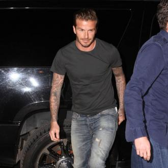 David Beckham Attends Halloween As Himself