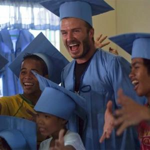 David Beckham Meets Street Kids In Philippines