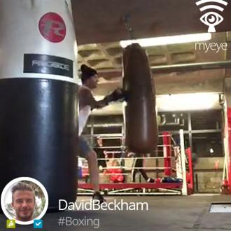 David Beckham Takes Up Boxing