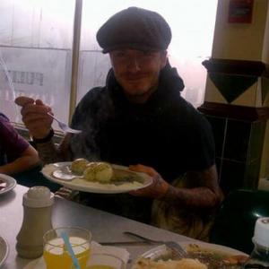 David Beckham Enjoys Festive Pie And Mash