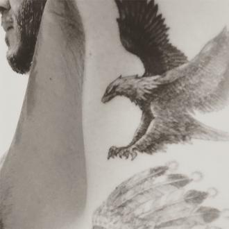 David Beckham Shows Off New Eagle Tattoo