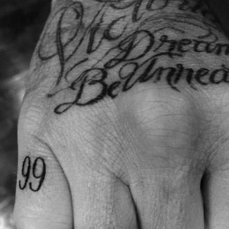 David Beckham's sweet tattoo tribute to Victoria