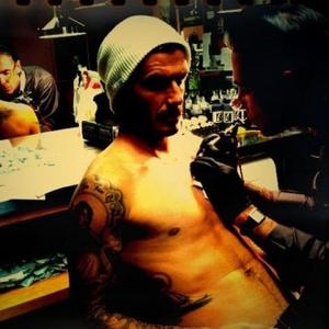 David Beckham Gets New Tattoo