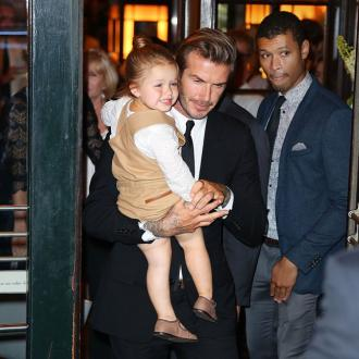 David Beckham Encourages Harper's Love Of Soccer