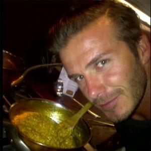 David Beckham Cooks For Family