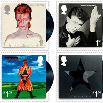 David Bowie honoured with stamp collection