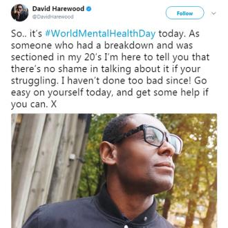David Harewood opens up about past mental health battle