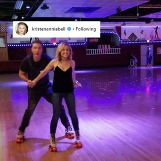 Kristen Bell and Dax Shepard's skate date night