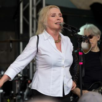 Debbie Harry performs with Arcade Fire