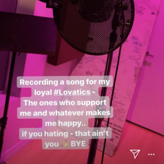 Demi Lovato is back in the studio, according to Scooter Braun
