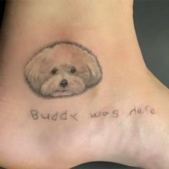 Demi Lovato's tattoo tribute to dog Buddy