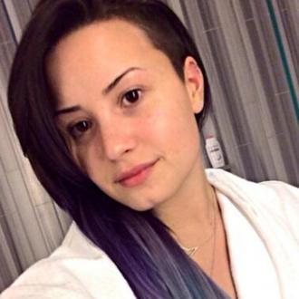 Demi Lovato Dyes Her Hair Purple And Silver