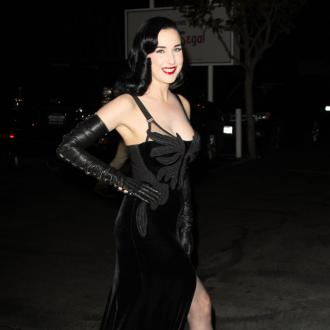 Dita Von Teese wears sexy lingerie on Valentine's Day
