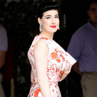 Dita Von Teese inspired by old men's magazines