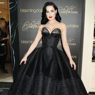 Dita Von Teese creates lingerie with Christian Louboutin