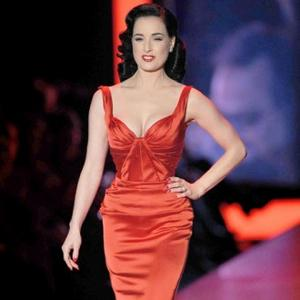 Dita Von Teese Shines In Charity Fashion Show