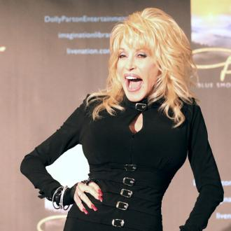 Dolly Parton receives award at Glastonbury
