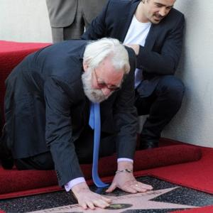 Donald Sutherland Gets Hollywood Star